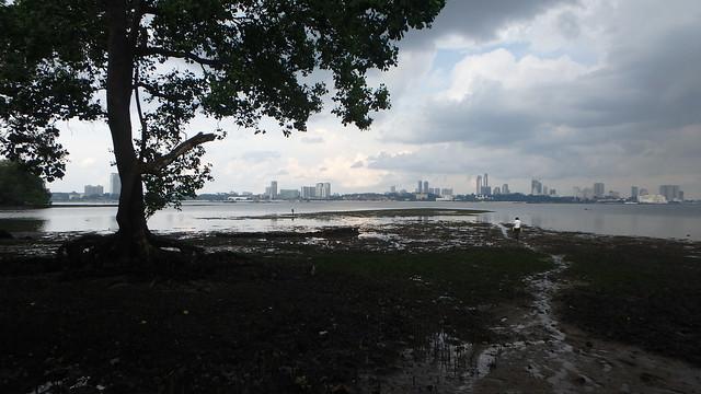 Kranji Reservoir Park overlooking Johor Baru