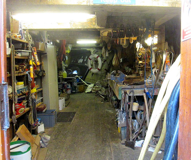 Store room on RRS Discovery