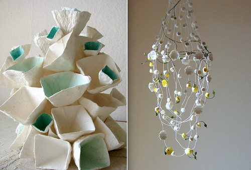 Handmade Paper Light and Paper Mobile from Alessandre Fabre Repetto