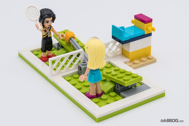 REVIEW LEGO Friends 2018 - LEGO 41338 Stephanie's Sports Arena tennis