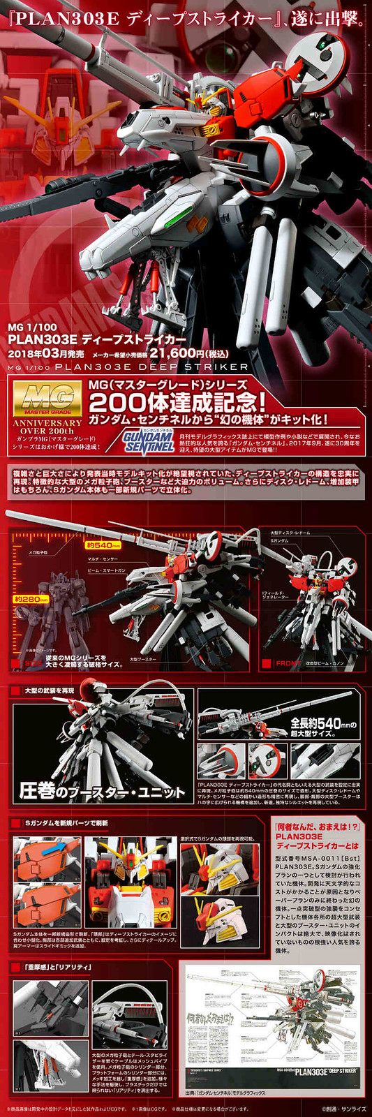 M G 1/100 Plan303 Deep Striker