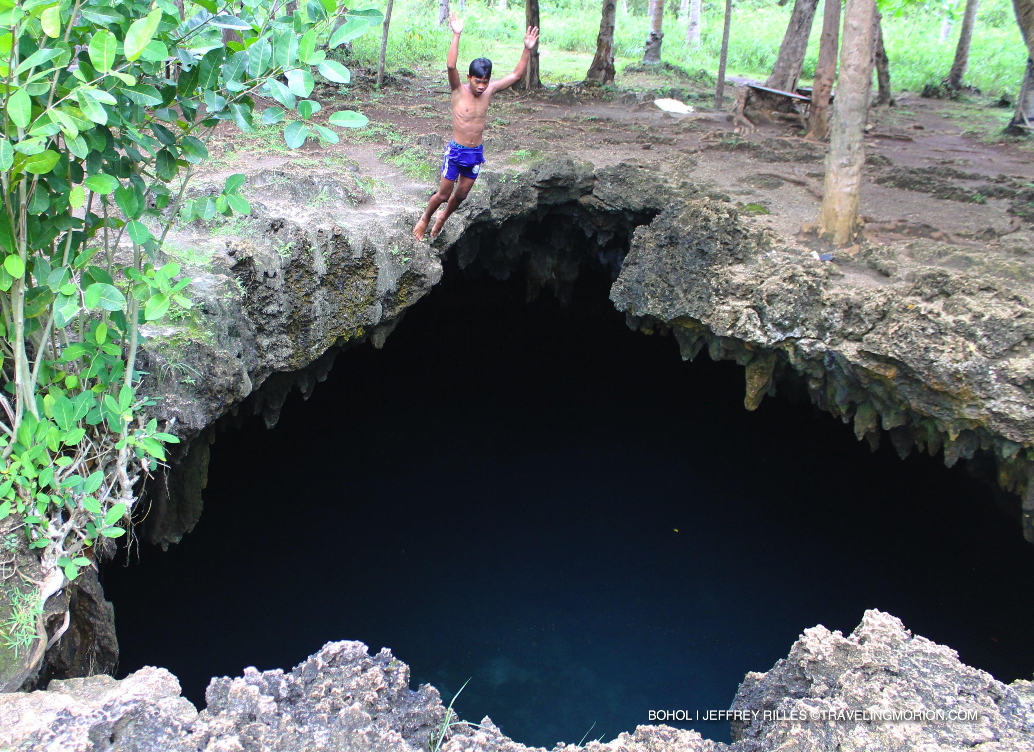 Cabagnow Cave Pool in Anda, Bohol