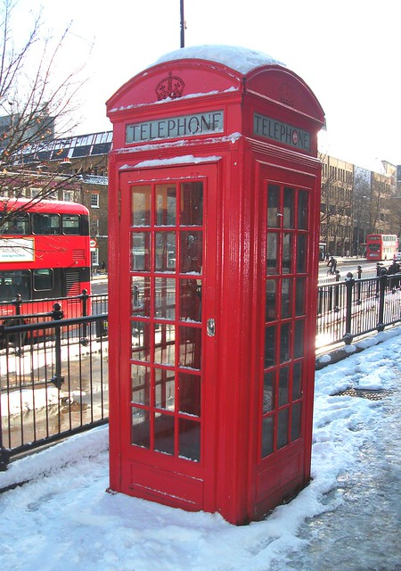 Telephone box in Islington, Fujifilm FinePix AV130