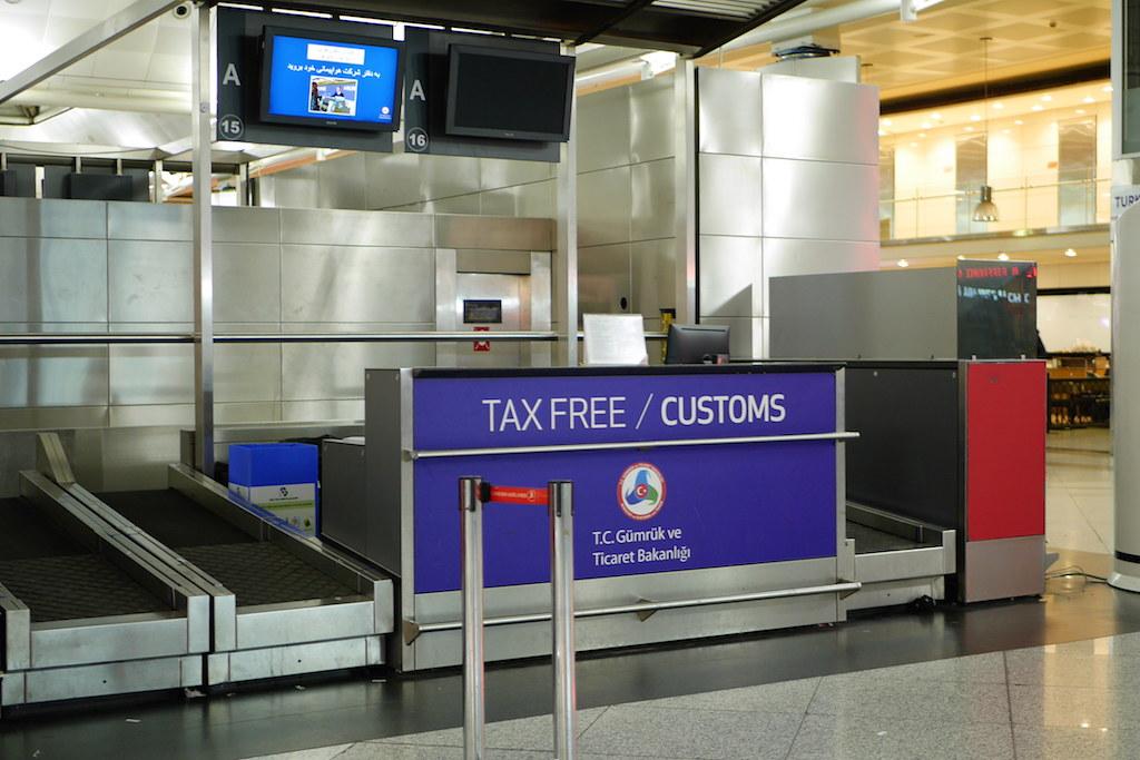 IST機場入關前退稅海關