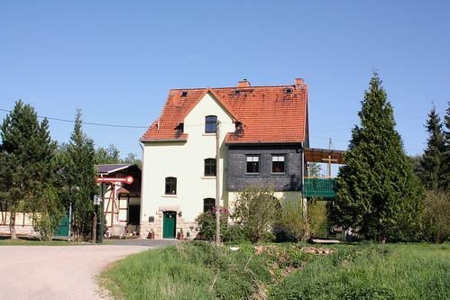 Ehemaliger Bahnhof Großtöpfer an der Bahnstrecke Eschwege - Heiligenstadt