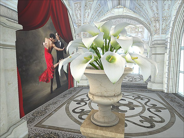 Let's Dance Ballroom - Lilies In the Foyer