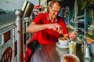 Kaffeepause in Brighton
