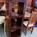 Tall solid wood bookcase  E150