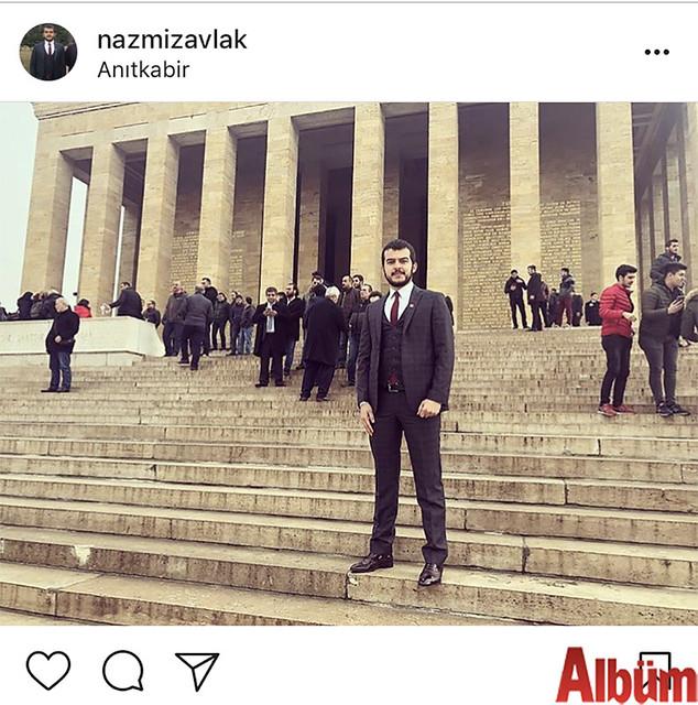 İç Mimar Nazmi Zavlak, Anıt Kabir'den paylaştığı fotoğrafla takipçilerinin beğenisini topladı.