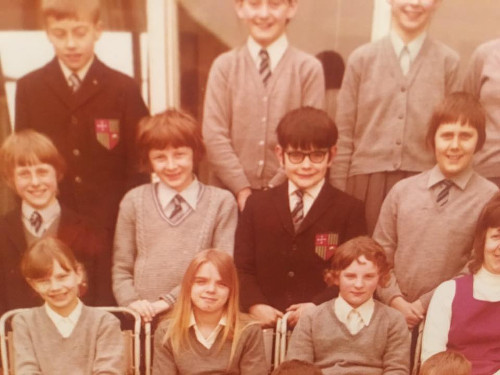 School photo from The Wedding Present's Facebook