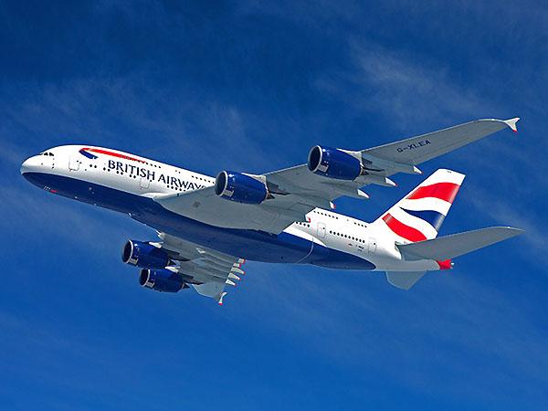 British Airways A380 flying (British Airways)