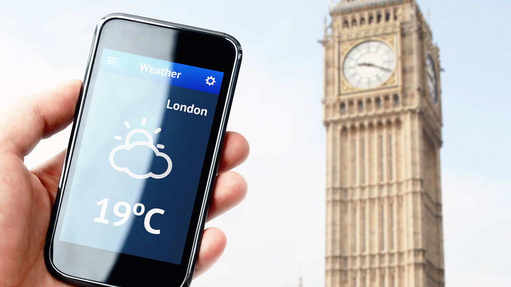 A smartphone weather app screen image