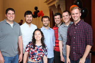 IMG_0859 2017-07-22 7-41pm AHS 2007 classmates take 1, l to r Jeff Hanson, Nick Romsey, Melissa Brockway, Nate Behning, Aaron Mostrom, John Alexander and Chris Simonson 10-year class reunion reunion photo #80