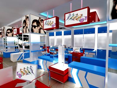 mica trong thiết kế nội thất cửa hàng trưng bày sản phẩm