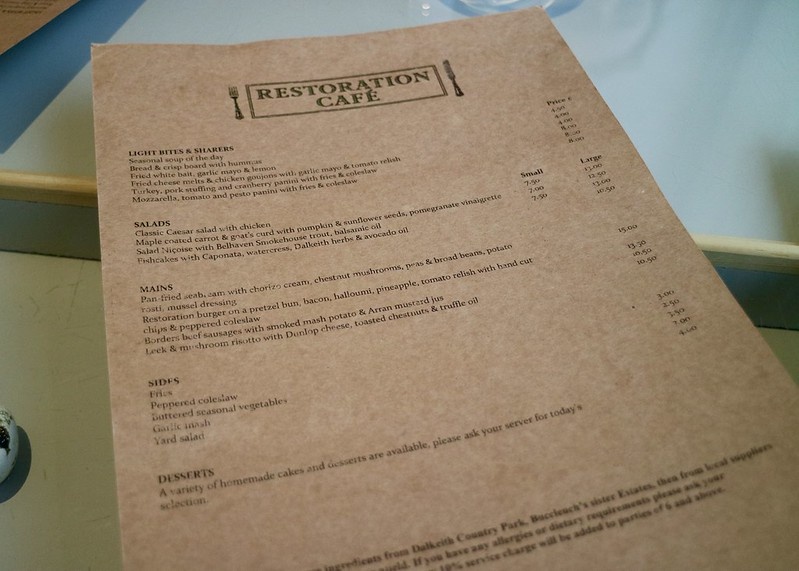 Restoration Cafe menu