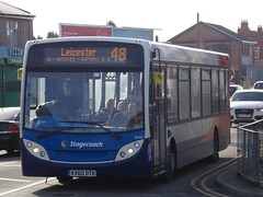 Stagecoach Midlands ADL Enviro 200 36168 KX60 DTK on route 48 to Leicester