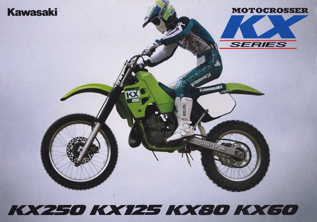 1988 Kawasaki KX60 KX80 KX125 And KX250 Brochure Page 1