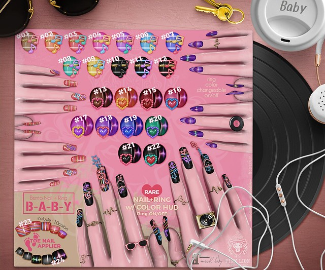 bento nail ♥B-A-B-Y♥