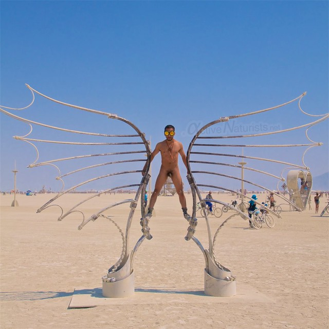 naturist camp Gymnasium 0017 Burning Man, Black Rock City, NV, USA