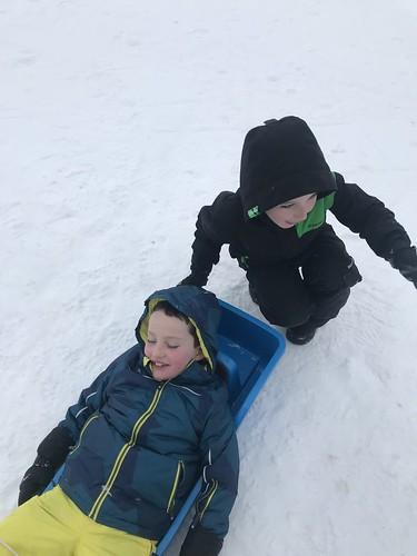 Feb - Sledging at Brunni Alpthal