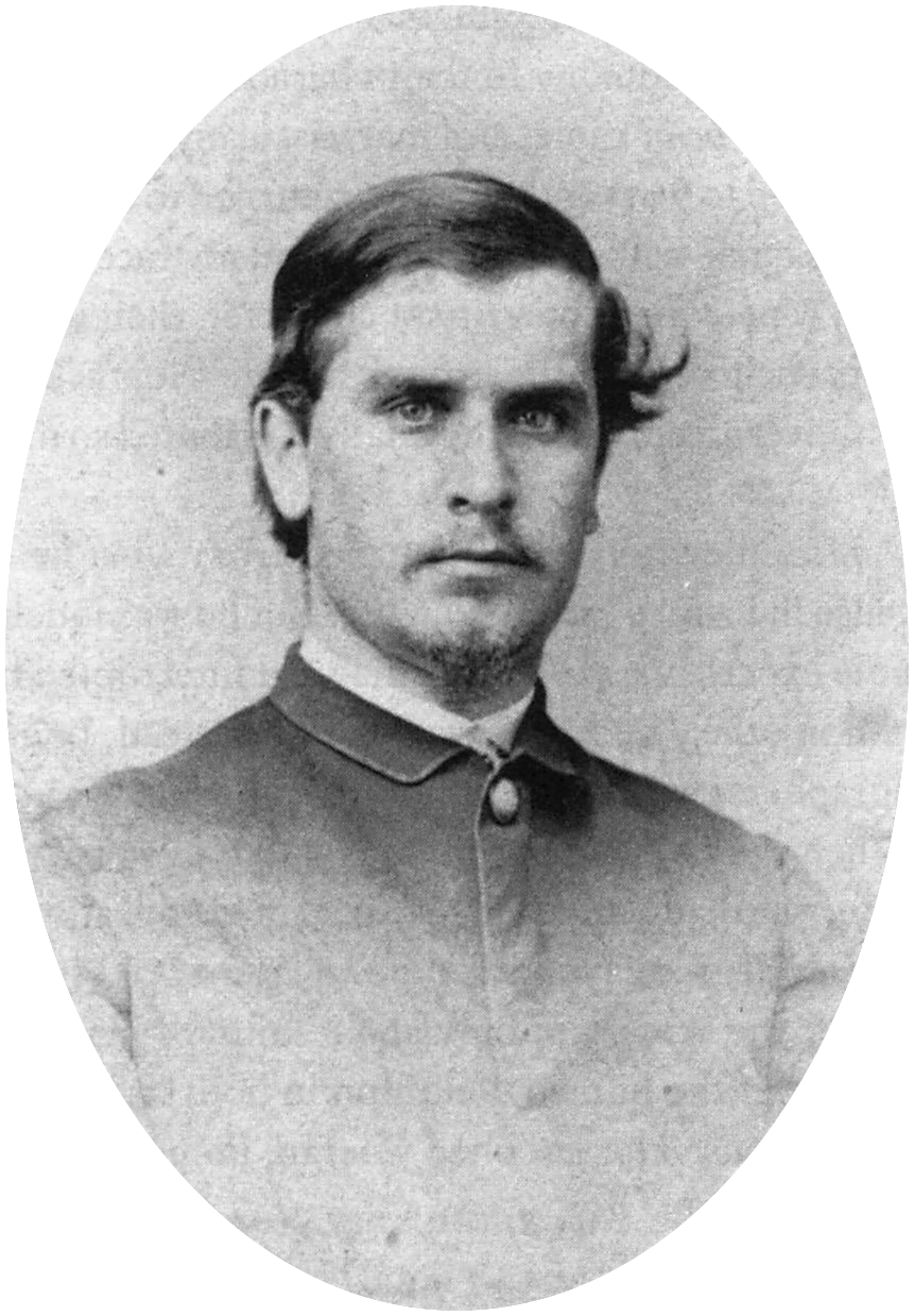 William McKinley in 1865, just after the war. Photograph by Mathew Brady.
