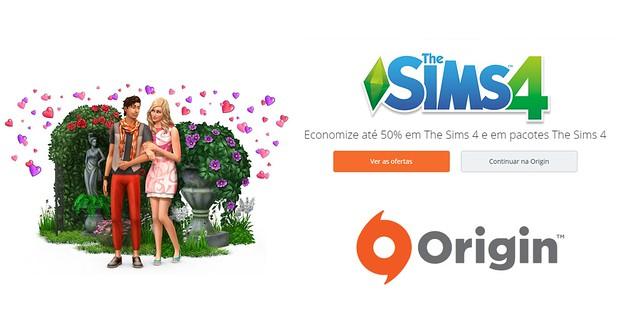 Promoção com até 50% de desconto no The Sims 4
