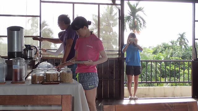 ホテルでの朝ご飯の様子♪