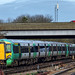 Southern Class 377/2 Electrostar EMU No. 377 145 at dedparts Gatwick on 8 Feb 2018