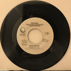 MADONNA:CRAZY FOR YOU(RECORD SIDE-A)