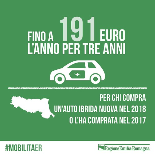Incentivi regionali per le nuove auto ibride