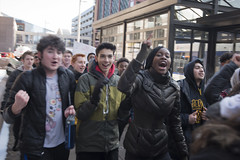 High school students marching against violence