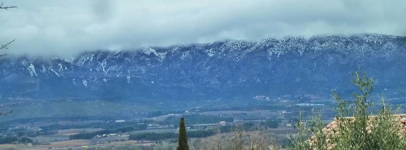 Montagne Ste Victoire enneigée - 2mars2018