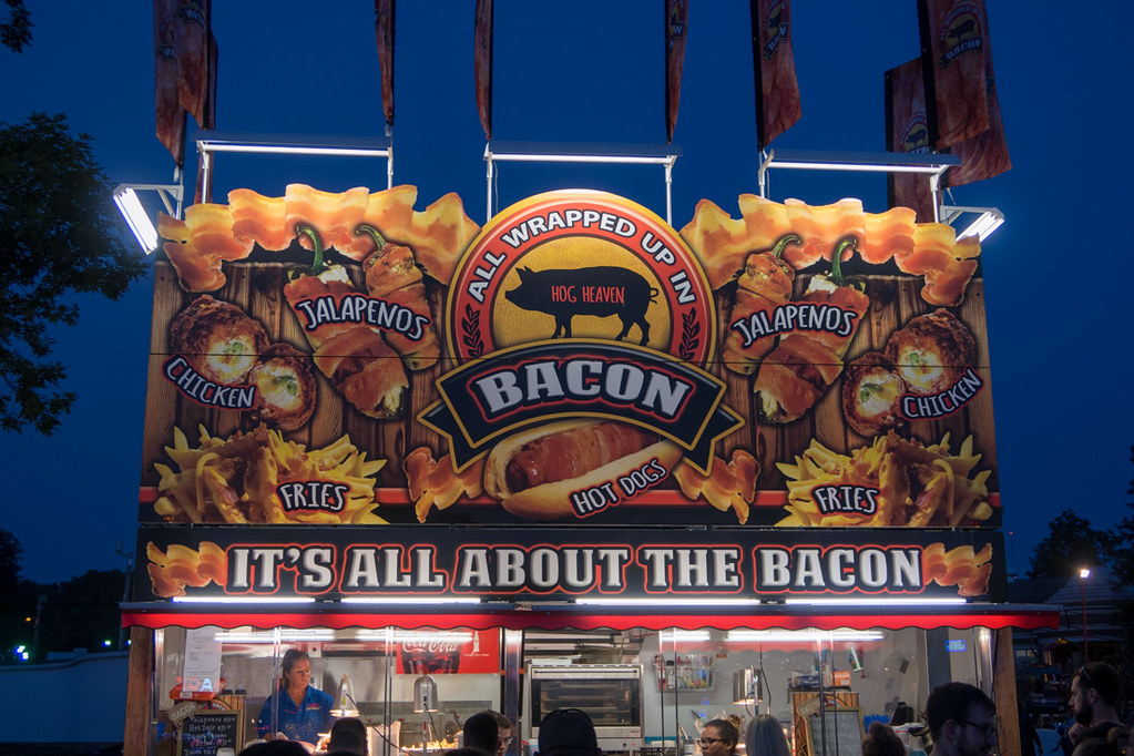 Bacon Booth at Iowa State Fair