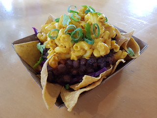 Nachos with Mac and Cheese from Green Street Food at Brisbane Vegan Markets