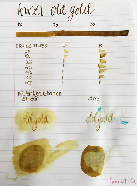 Ink Shot Review KWZI Old Gold @AppelboomLaren 1