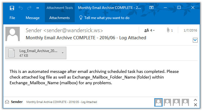 Exchange 2013/16 Journal Mailbox Archive-to-PST PowerShell Script