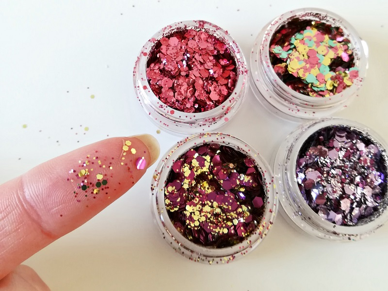 G BEAUTY LAB GLITTERS LOVE U SET SWATCH