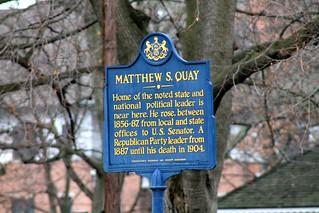 Matthew S. Quay historical marker - Beaver, PA