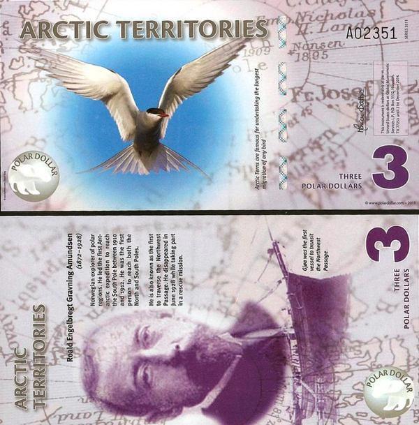 3 Polárne doláre Arktída 2011, polymer