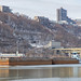 Barges on the Mon River - shot from Mon Wharf in Pittsburgh