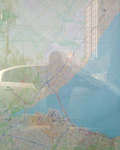 Map of the western GTA, Burlington and Hamilton #toronto #etobicoke #everywheremaps #maps #dundasstreetwest #islingtoncitycentrewest #reflection #latergram #burlington #hamont