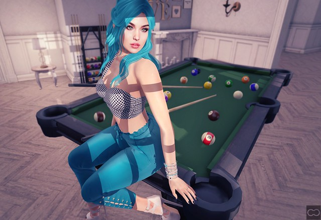 Girl At The Pool Table