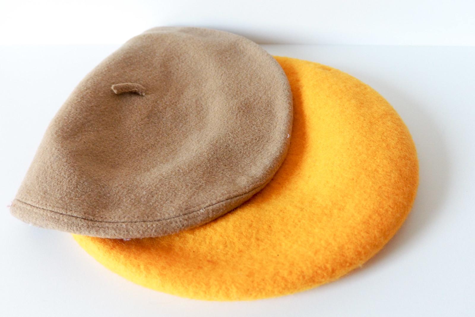 Topshop yellow beret, vintage beret