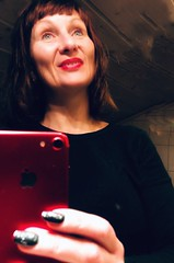 #Happy with #life #moment #time and new #coloured #lips and#new #red #hair. #love and #inner #attitude #works in #mysterious #ways #happynewyear #people #portrait #kindofblue #thankfull