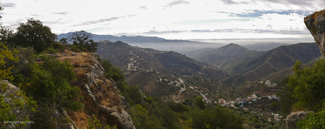 Uitzicht Moorse Berg Malaga, Spanje