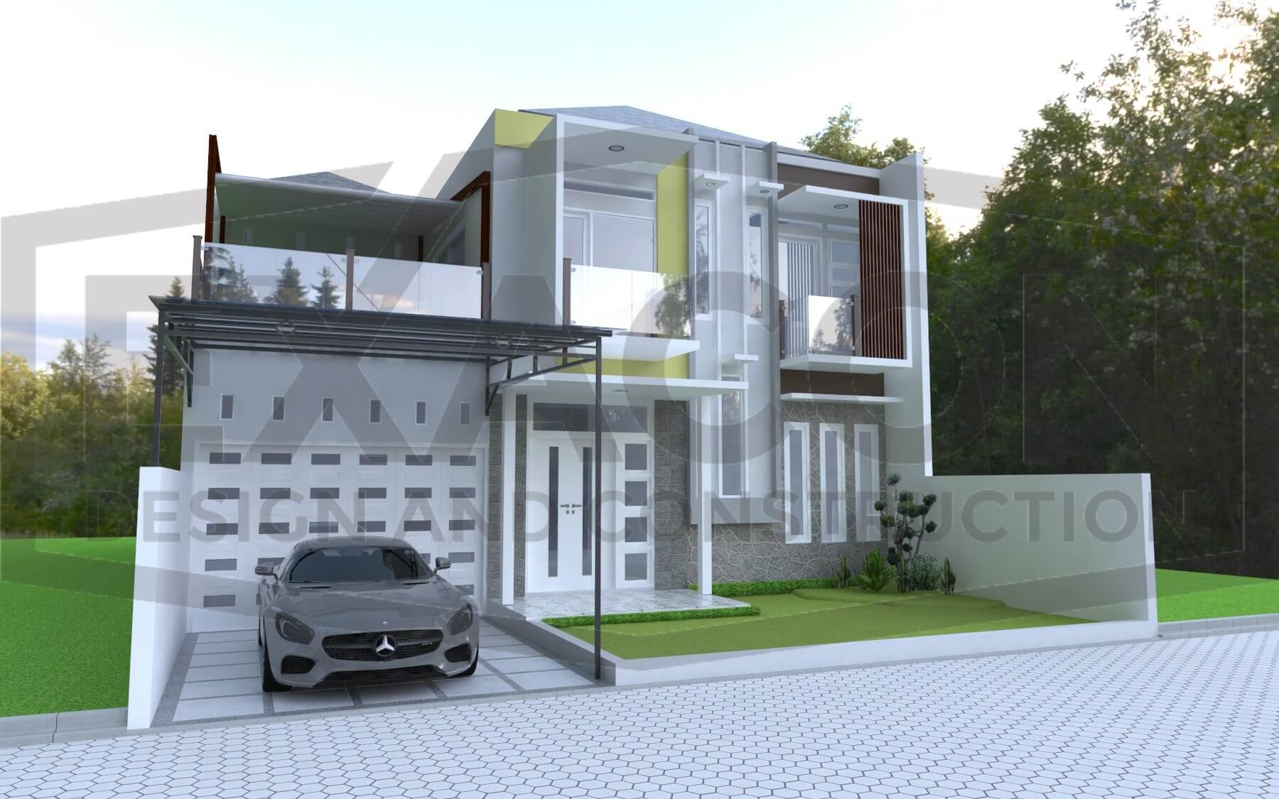 Proyek Desain Rumah Minimalis Tropis Bapak Evi Sumedang