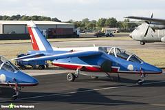 E130 1 F-TERP - E130 - Patrouille de France - French Air Force - Dassault-Dornier Alpha Jet E - RIAT 2010 Fairford - Steven Gray - IMG_7368