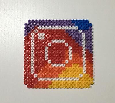 Posavasos Instagram DIY perler