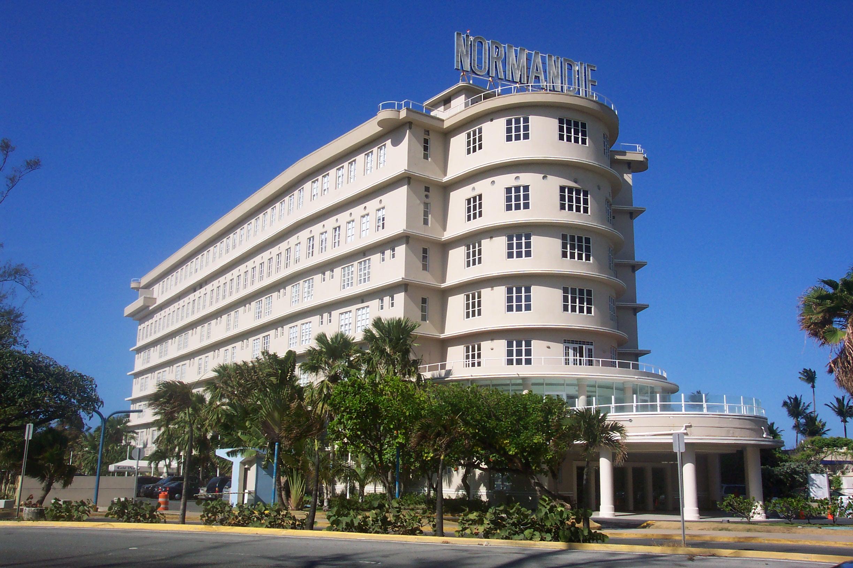 Normandie Hotel as seen from Munoz Rivera Avenue, San Juan Puerto Rico. Photo taken on October 19, 2007.