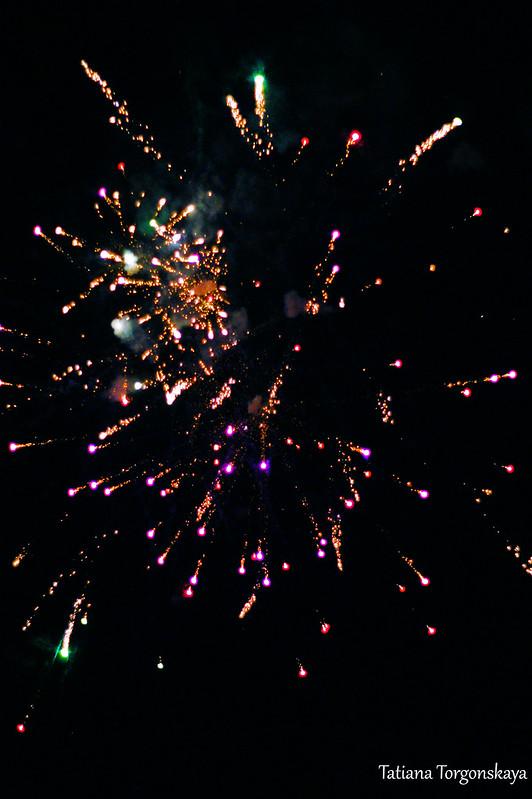 Фейерверк на Зимнем карнавале Котора